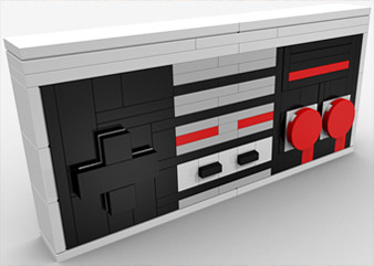BrickGun 8-bit Controller model