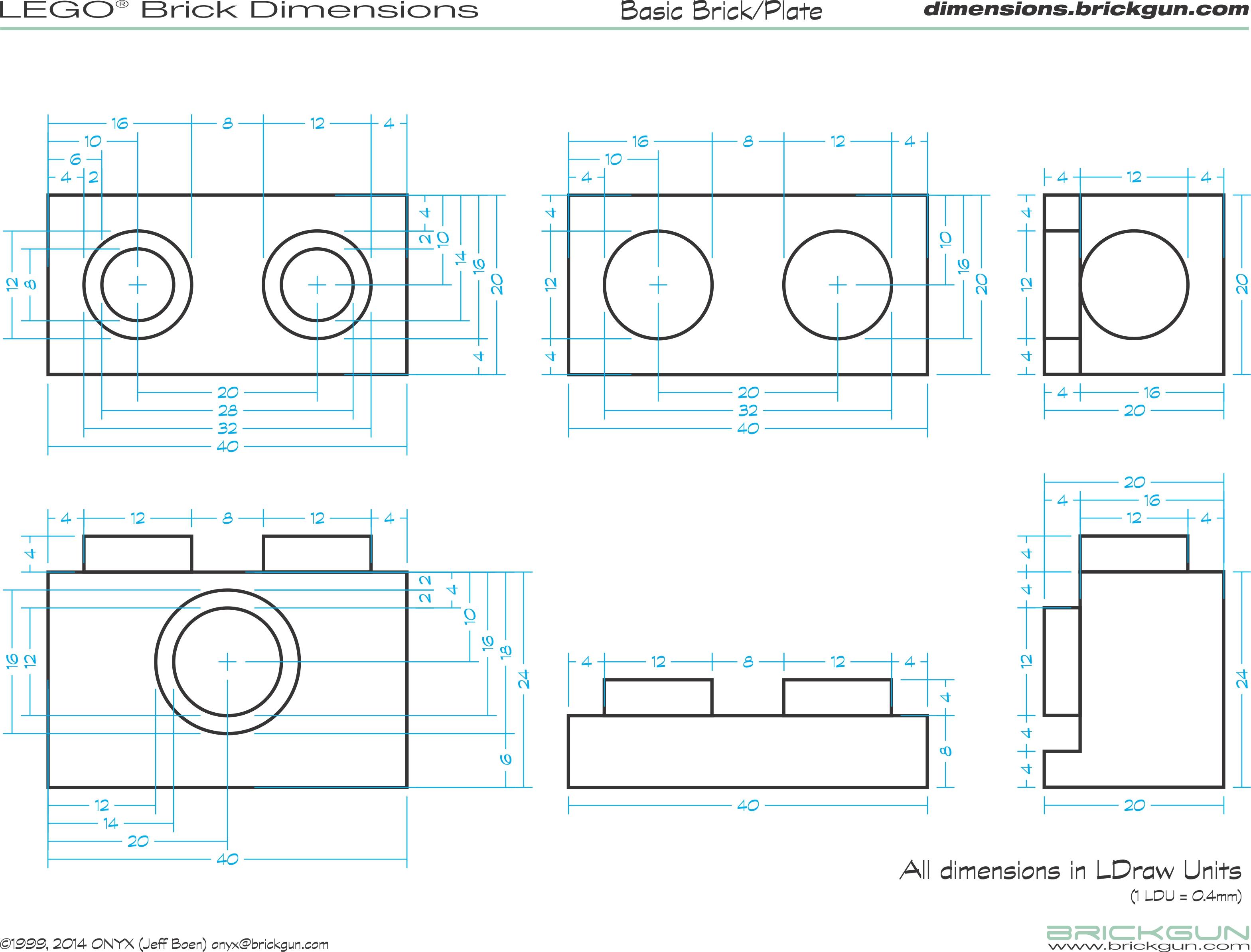 Brickgun lego dimension guides for Standard blueprint size