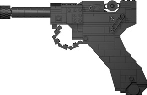 BrickGun Luger P08 Left