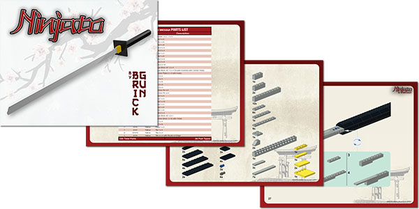 BrickGun Ninjato Instruction Sample